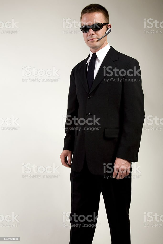 Secret Agent Observing royalty-free stock photo