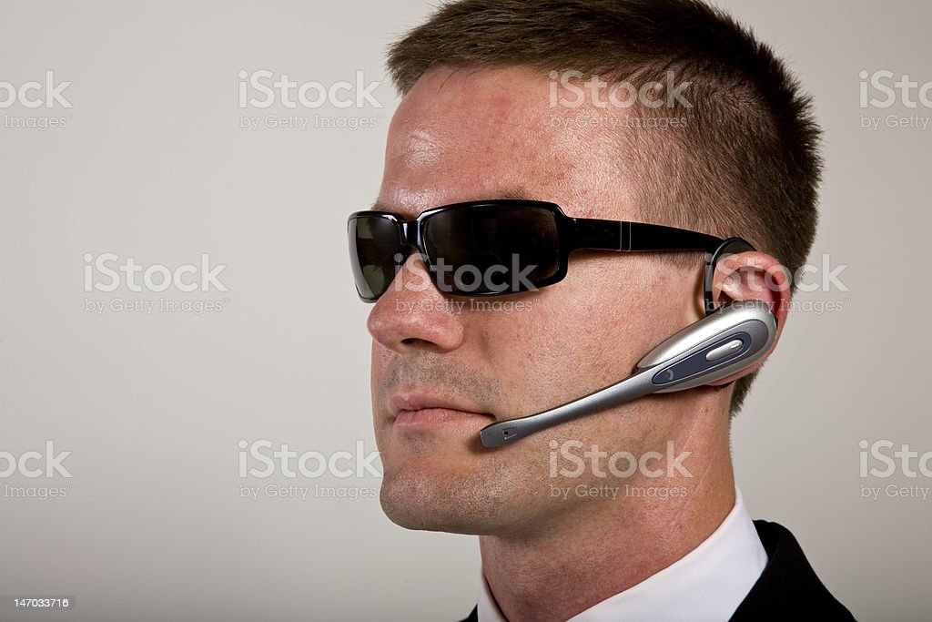 Secret Agent  or business man Listening royalty-free stock photo