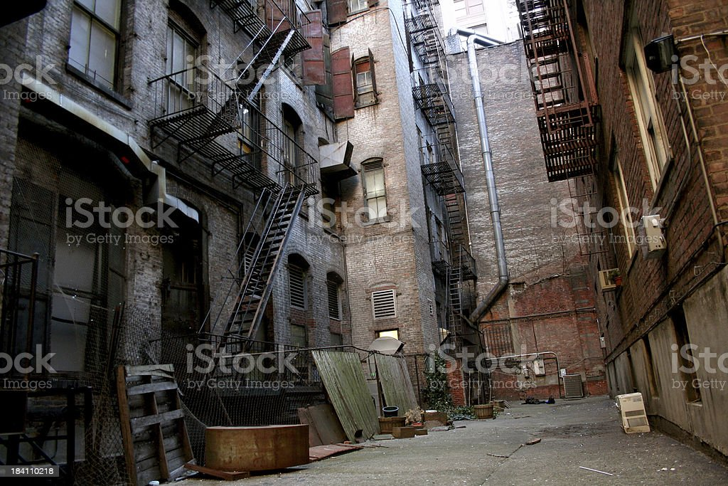 Secret Alley royalty-free stock photo