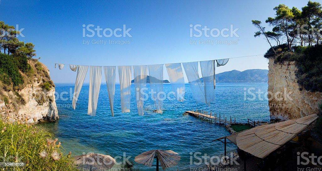 Secret beach ,Cameo Island, Zakynhtos, Greece stock photo