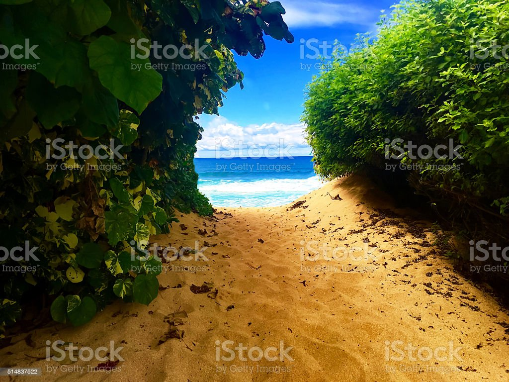 Secret Beach stock photo