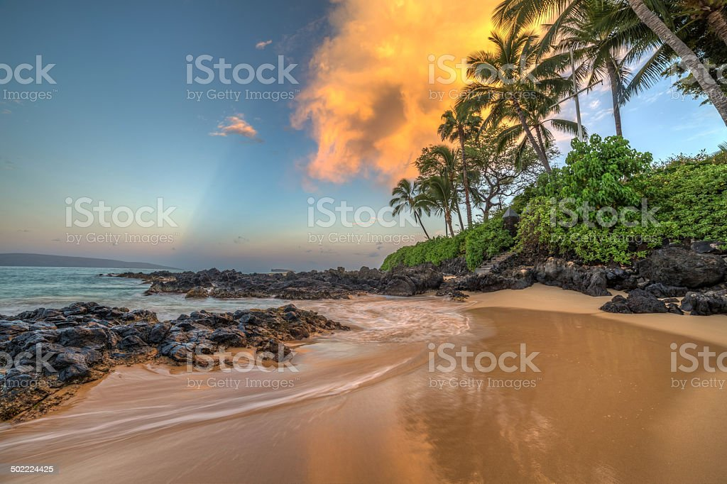 Secret Cove at Sunrise stock photo