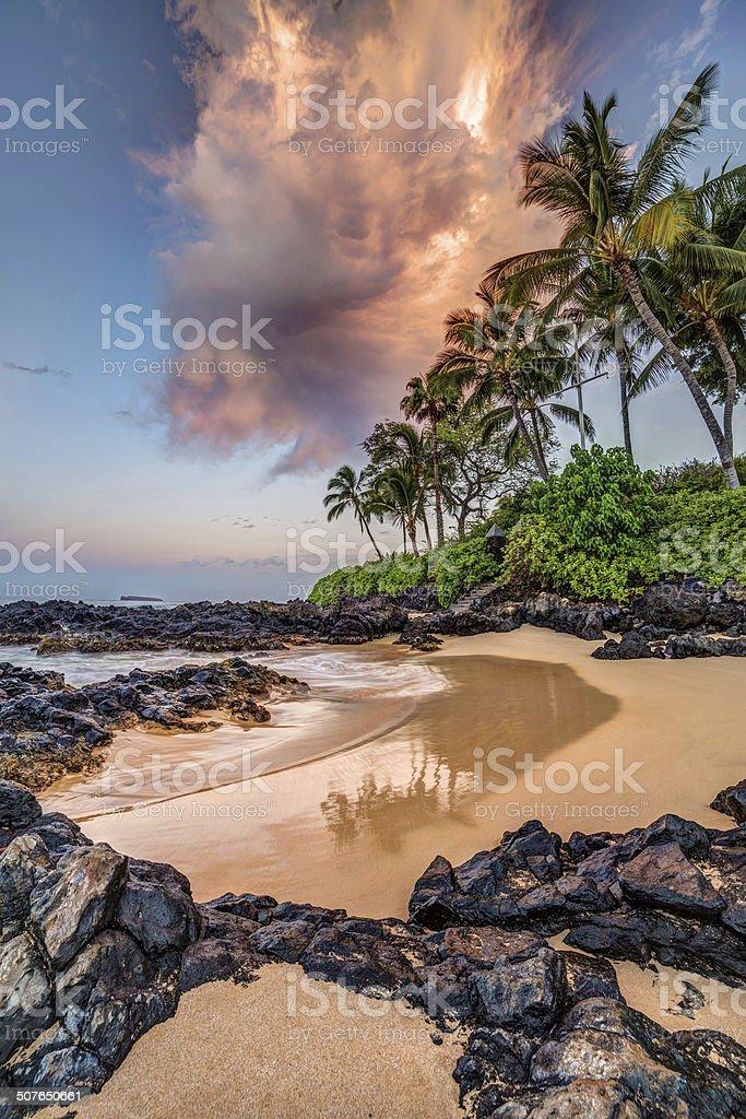 Secret Cove Sunrise stock photo