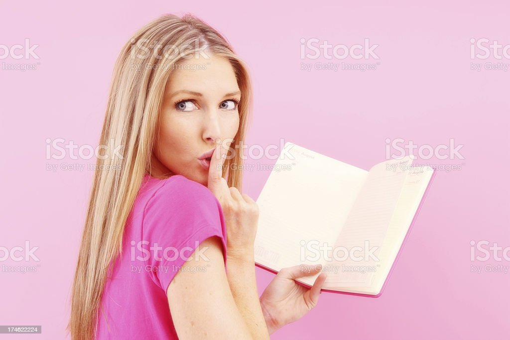 Secret Diary Shh royalty-free stock photo
