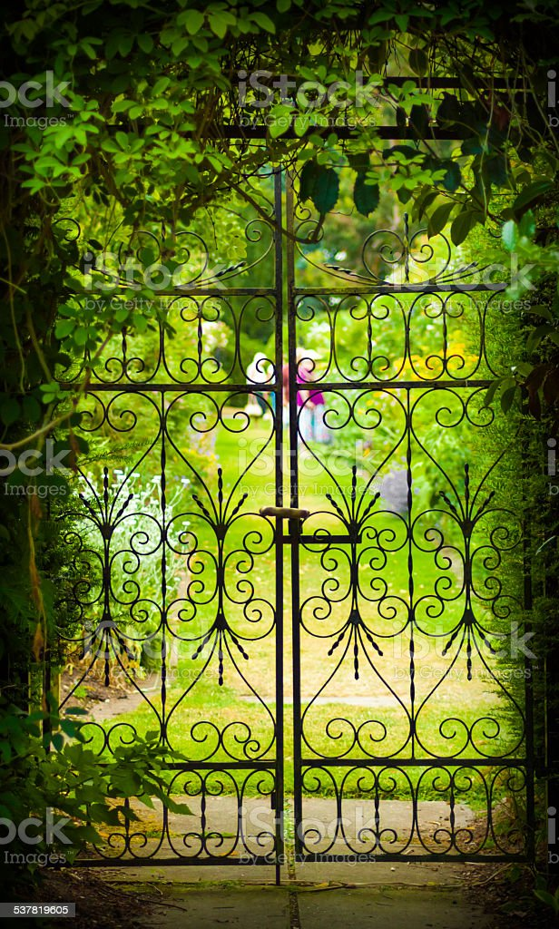 Secret Garden and Iron Gate stock photo