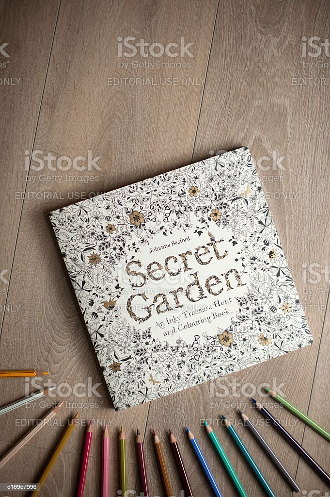 Secret Garden Colouring Book For Adults Stock Photo 516957996