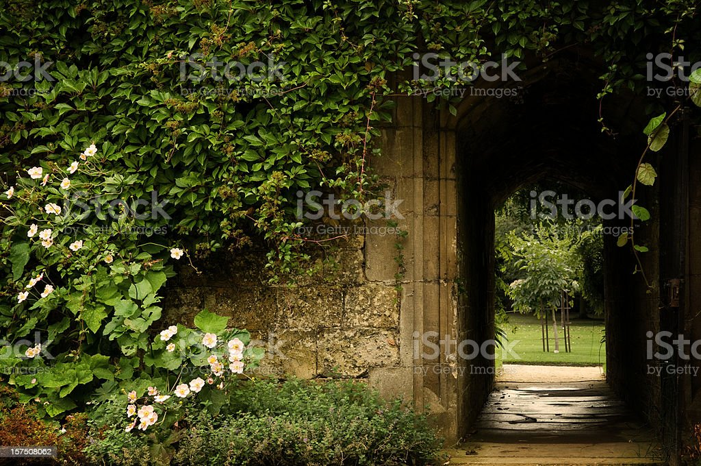 Secret Garden Door stock photo