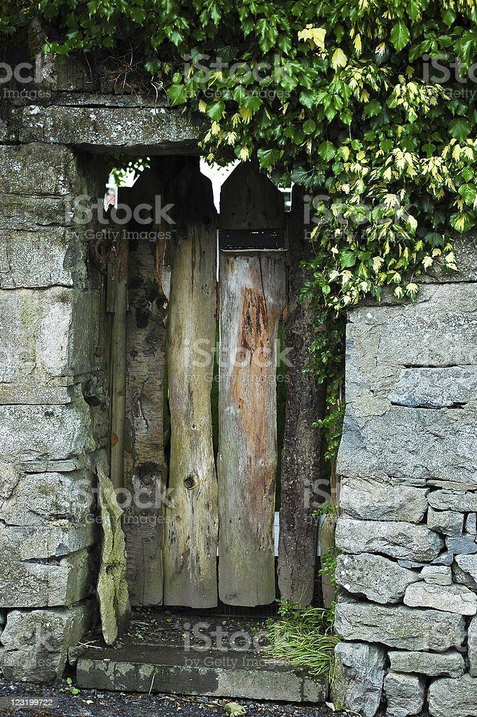 Secret Garden Doorway stock photo