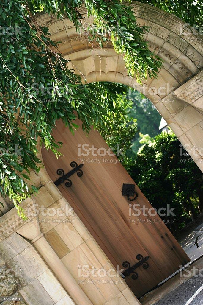 Secret Garden Entrance stock photo