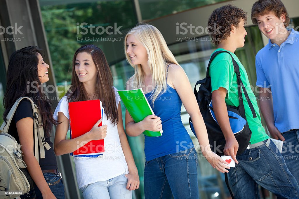 secret love letter of teenagers royalty-free stock photo