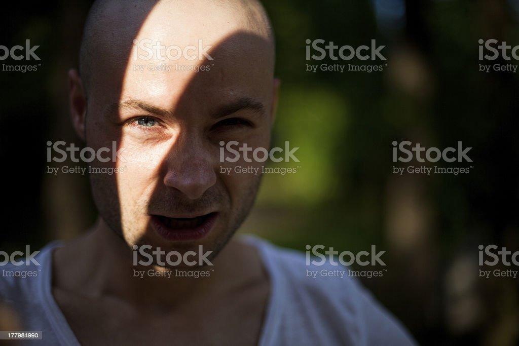 Secret man stock photo
