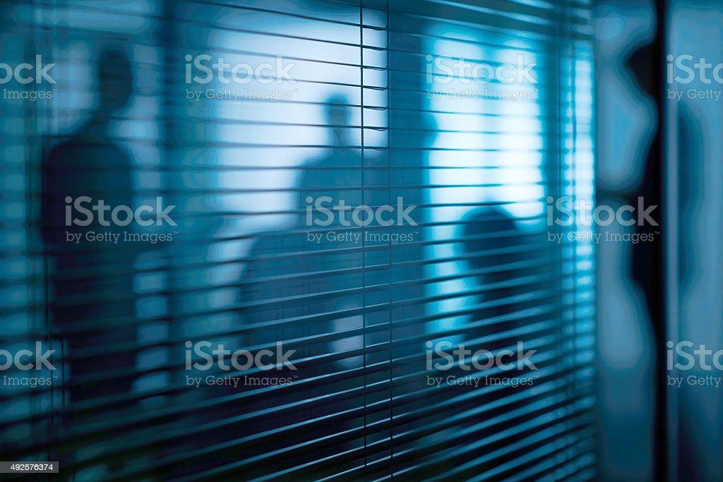 Secret meeting stock photo