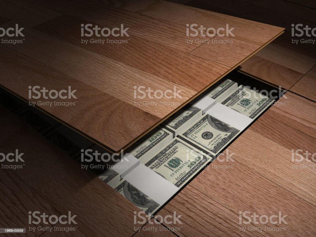 Secret Money stock photo