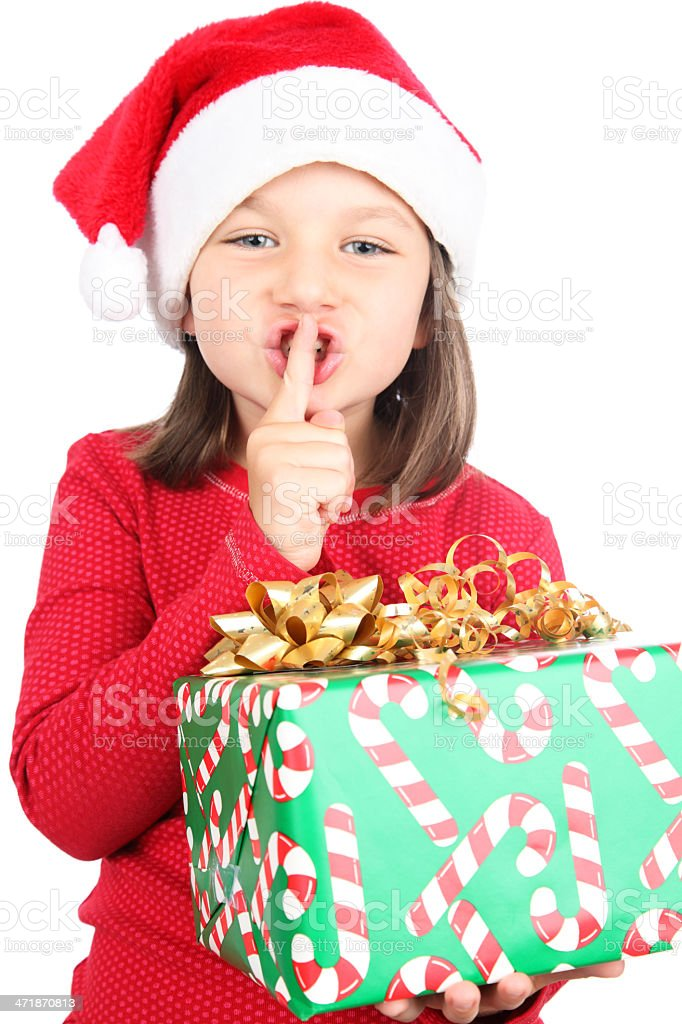 Secret Santa royalty-free stock photo
