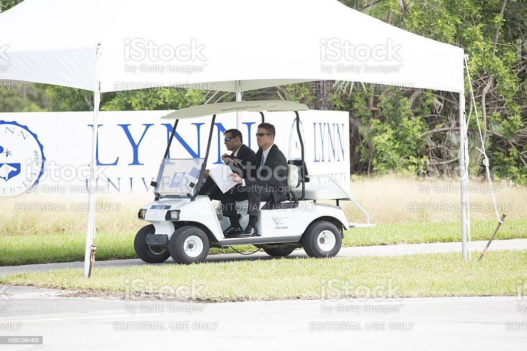 Secret Service for President Obama and Mitt Romney debate stock photo