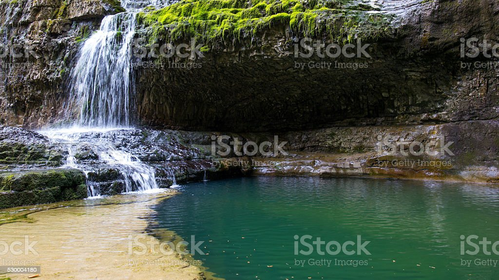Secret waterfall stock photo