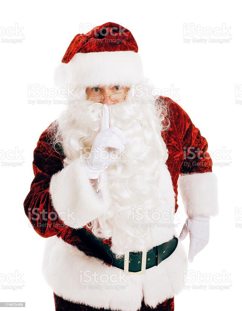 Secret with Santa Claus stock photo