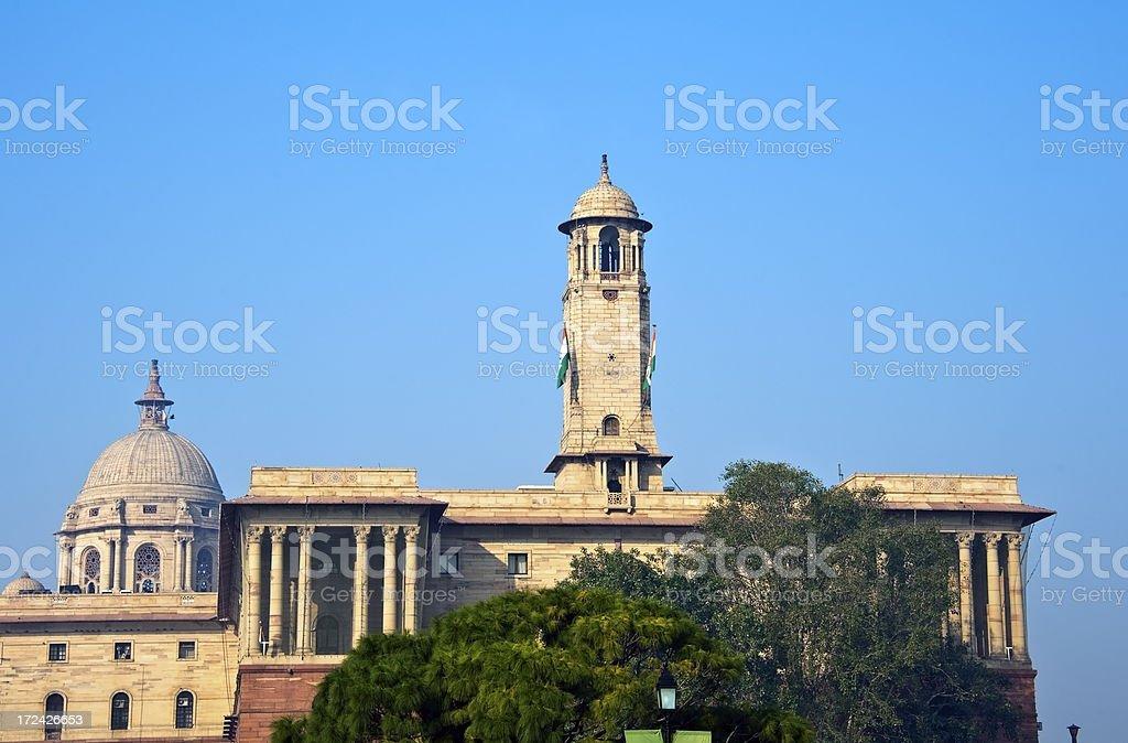 Secretariat Building, New Delhi royalty-free stock photo