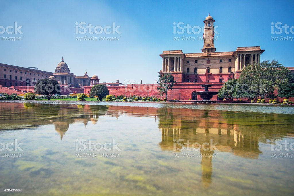 Secretariat buildings, New Delhi stock photo