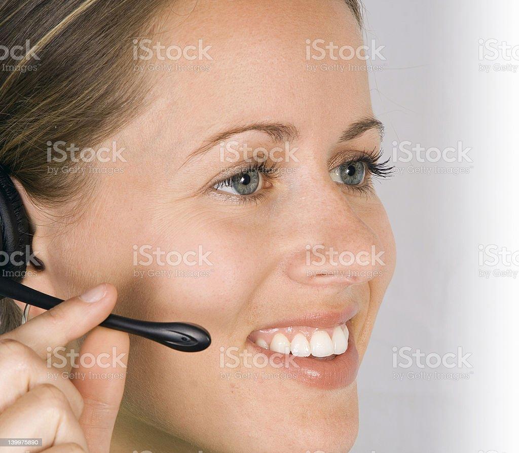 Secretary Answering a Call royalty-free stock photo