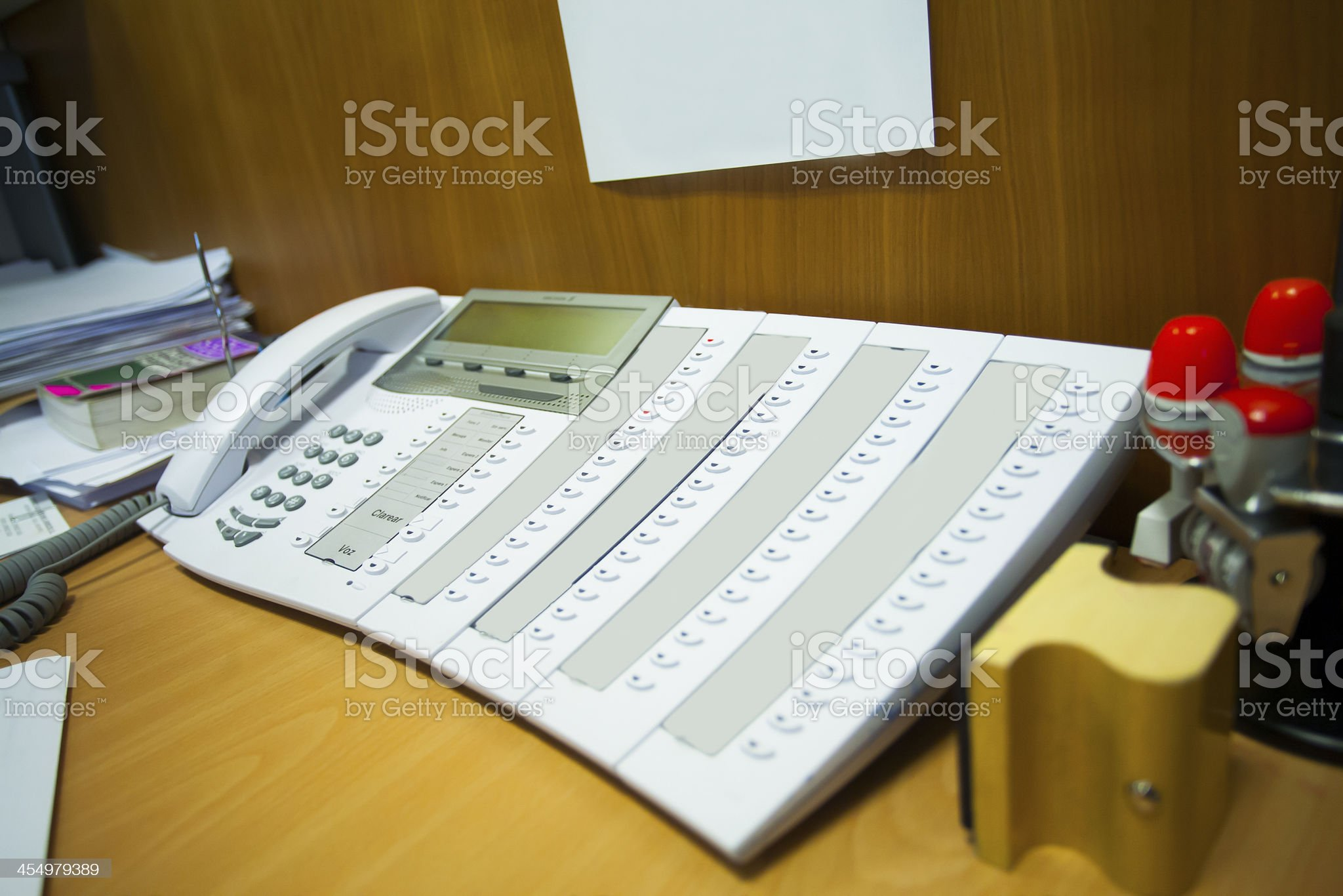 Secretary center Office Phone royalty-free stock photo