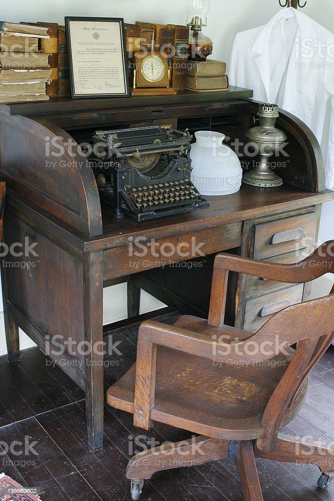 Secretary Desk and Chair stock photo