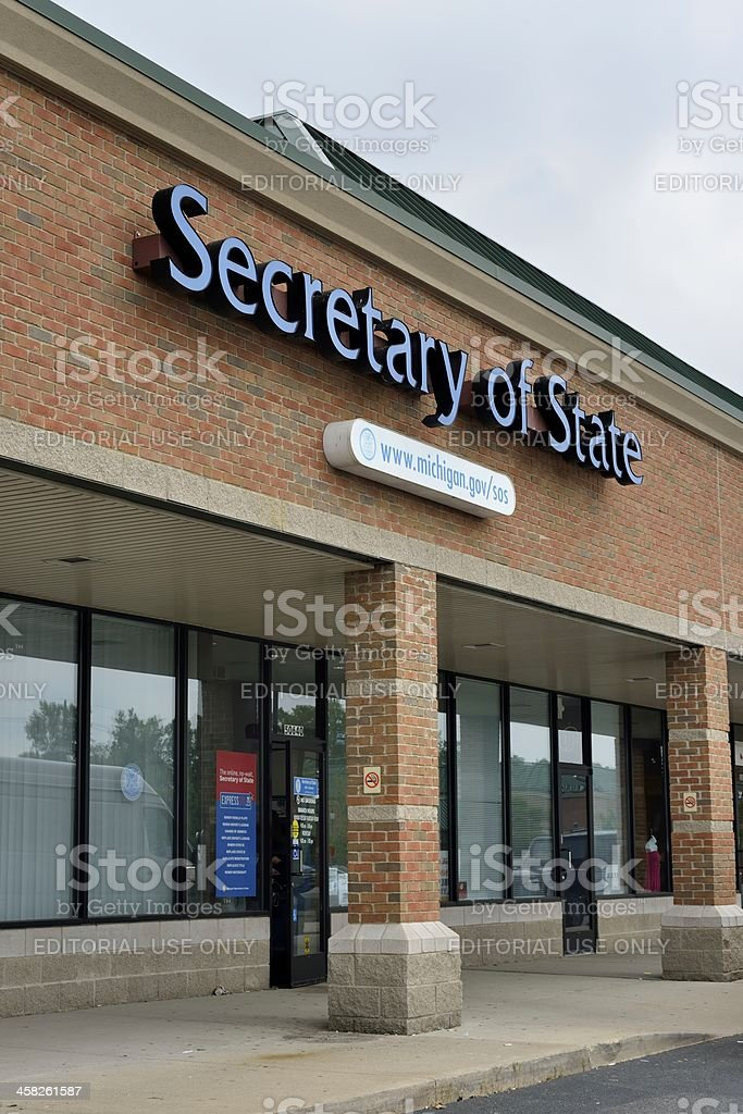 Secretary of State, Michigan stock photo