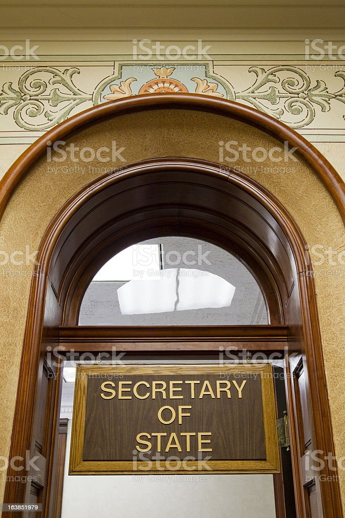 Secretary of State's Office Wyoming State Capitol stock photo