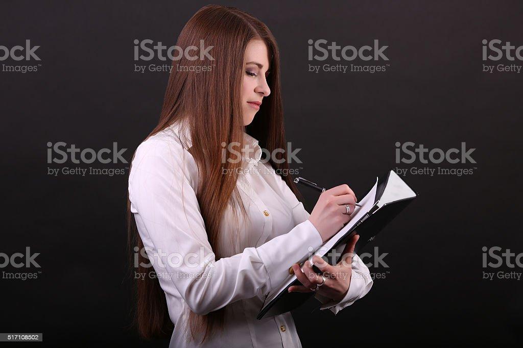 Secretary royalty-free stock photo