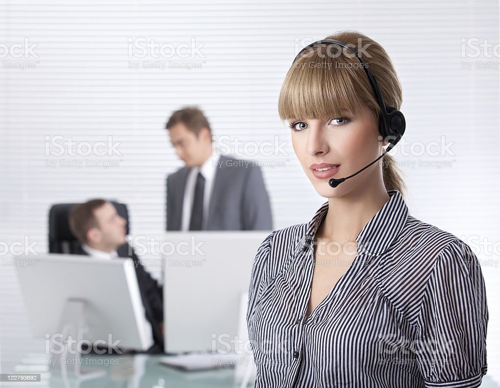 Secretary portrait in a clean office royalty-free stock photo