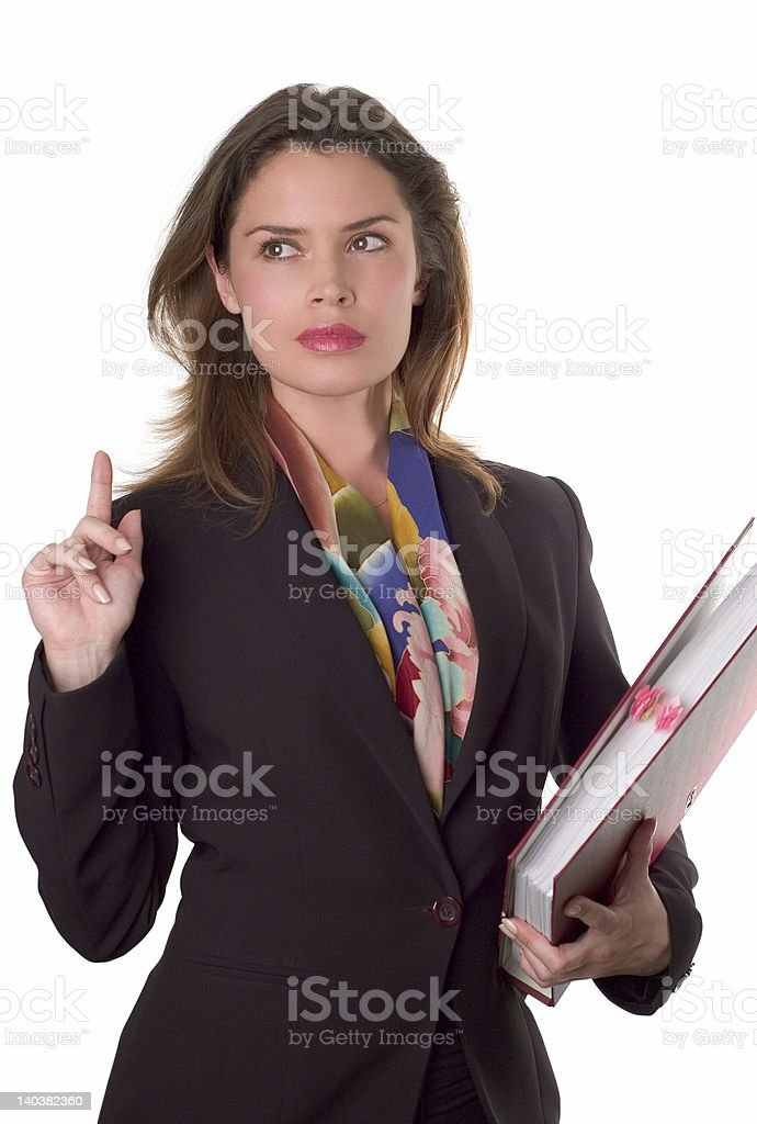 Secretary with papers royalty-free stock photo