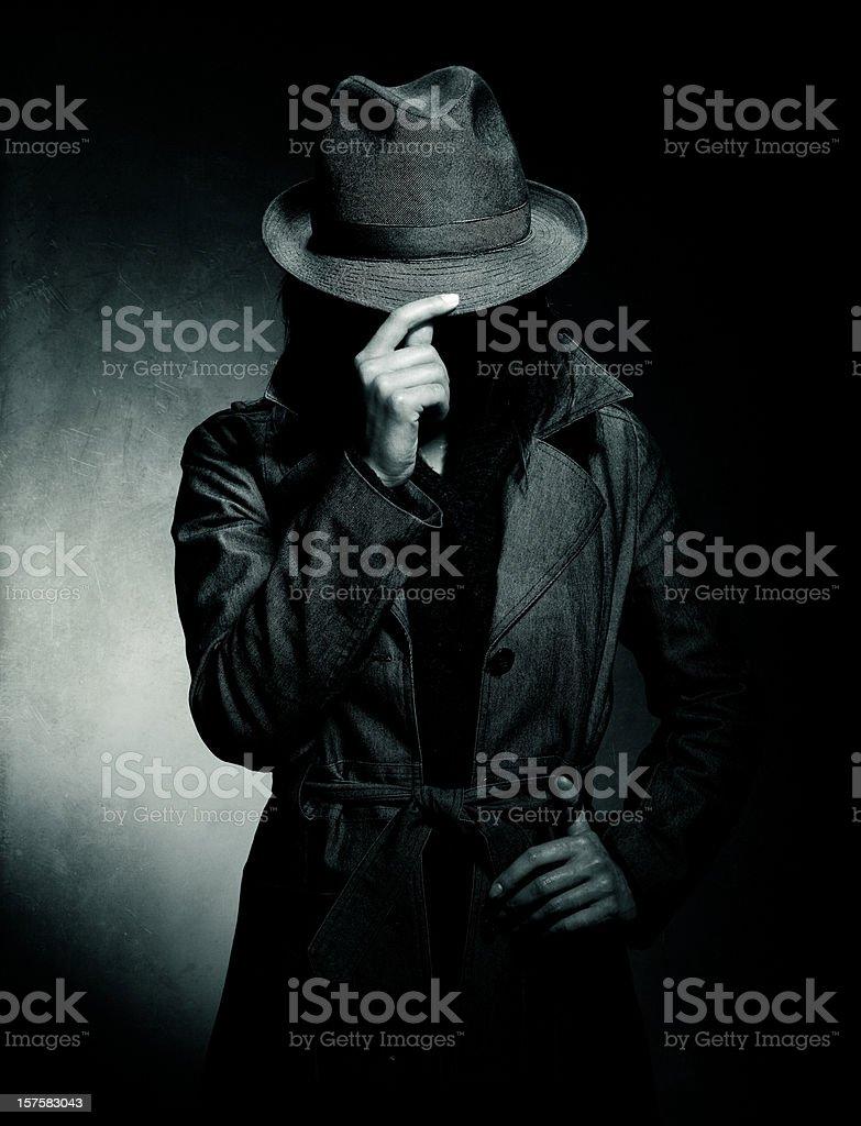 secretive retro spy stock photo