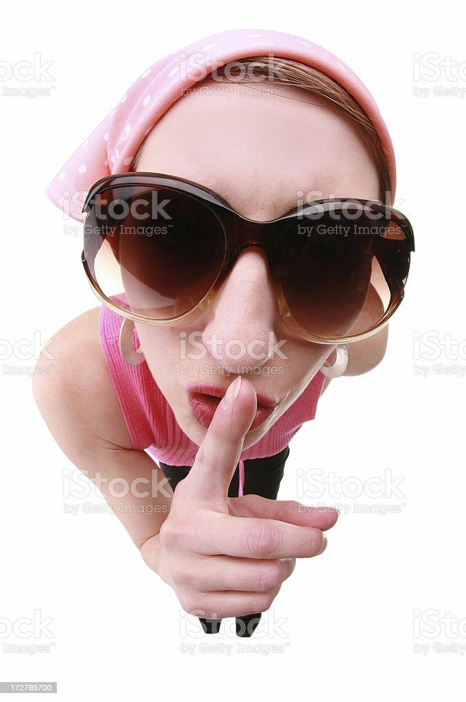 Secretive Woman royalty-free stock photo