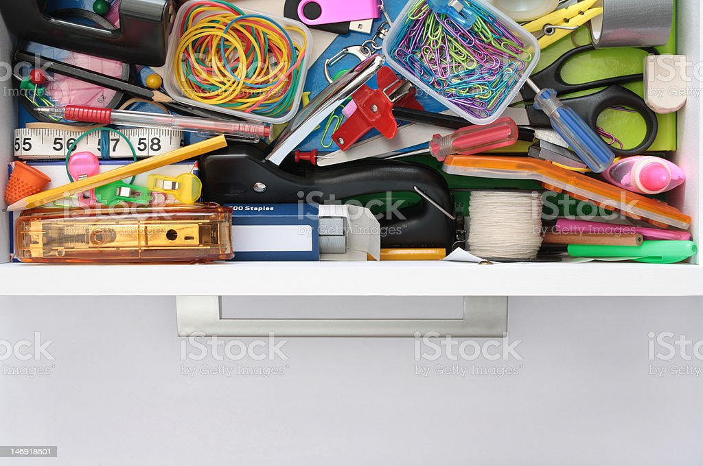 Secrets of the Stationery Drawer Exposed royalty-free stock photo