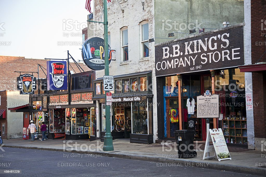 Section of Beale Street in Memphis, Tennessee USA royalty-free stock photo