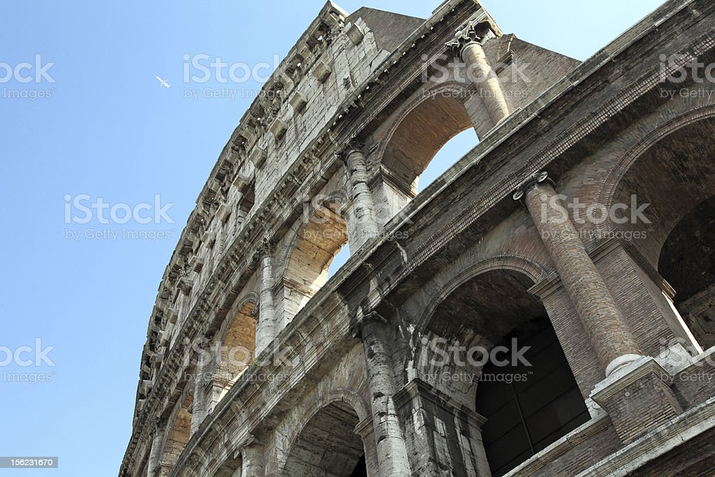 Section of Colosseum stock photo