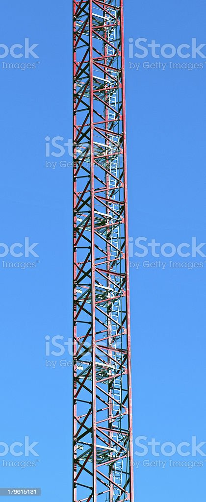 Section of crane support with electrical cable and ladders royalty-free stock photo