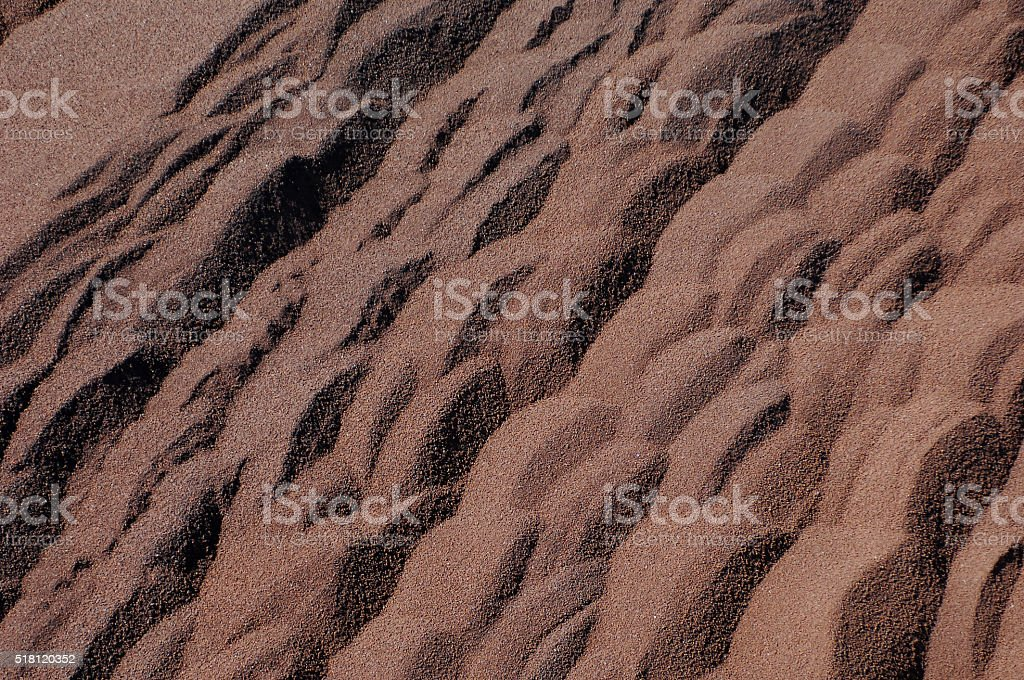 Section of iron ore stockpiles. stock photo
