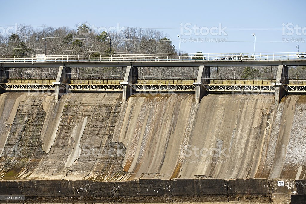 Section of Old Hydroelectric Dam royalty-free stock photo