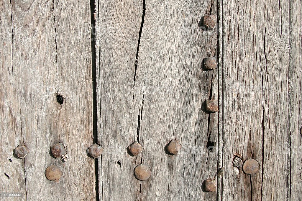 Section of old wooden door royalty-free stock photo