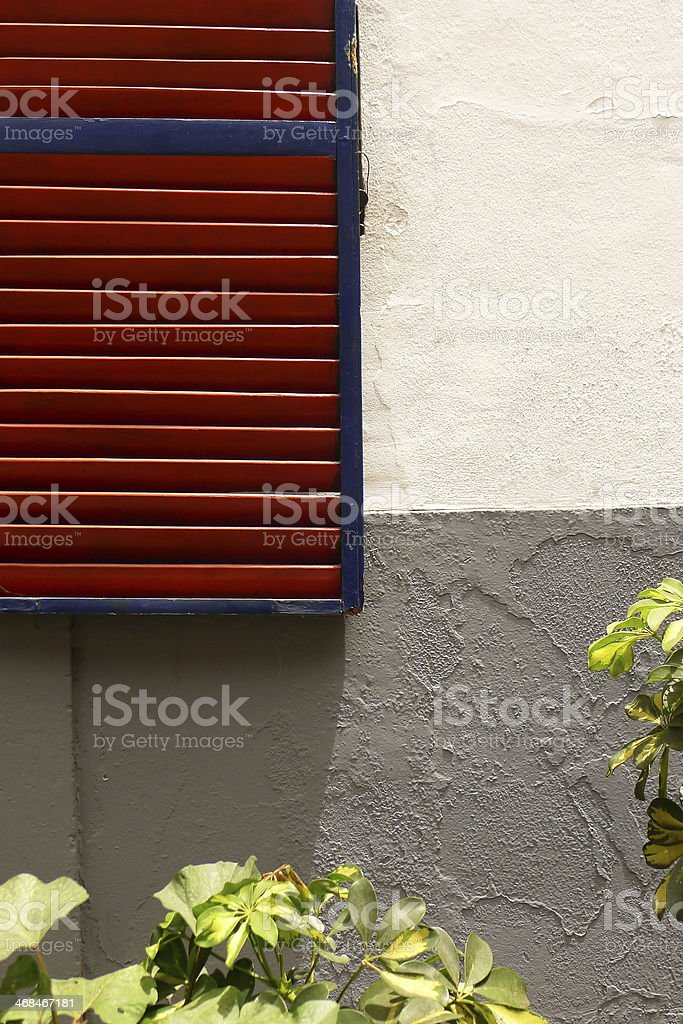 Section of Red Shutters royalty-free stock photo