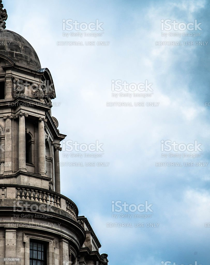 Section of St Paul's Cathedral, London stock photo