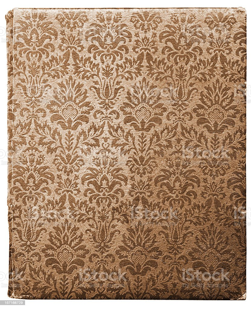 Section of Tan Brown Pattern Wallpaper royalty-free stock photo
