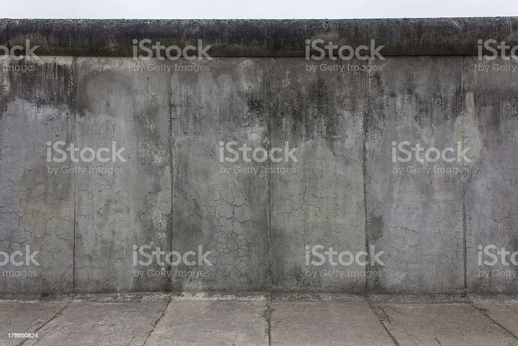 Section of the Berlin Wall stock photo