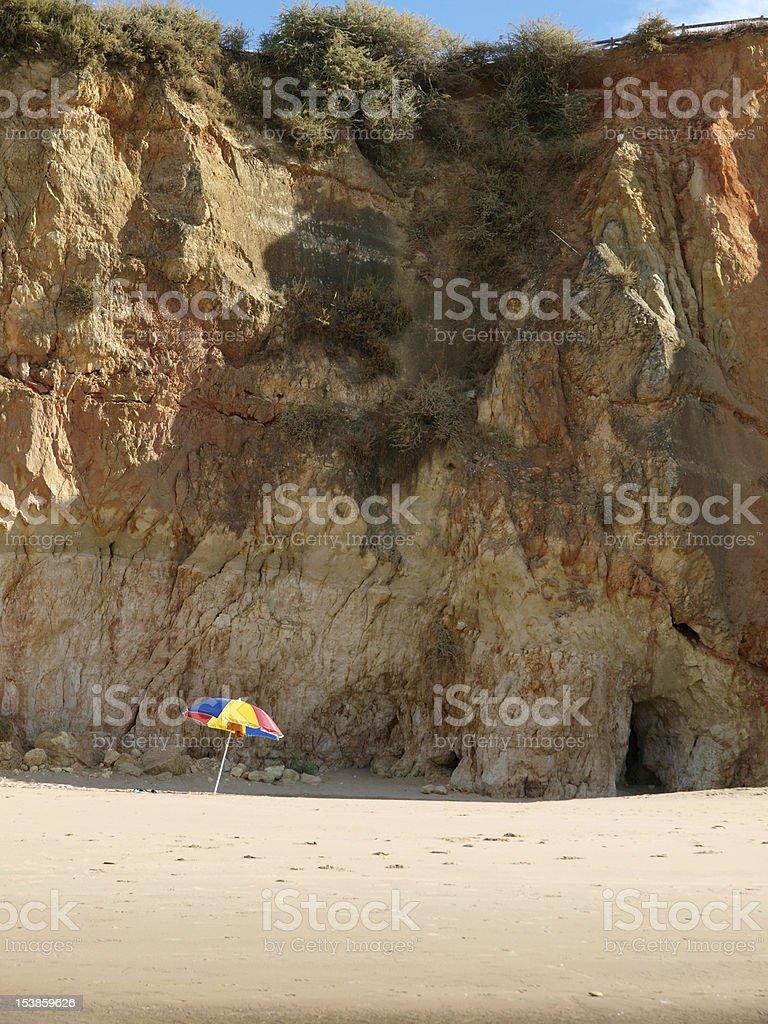 section of the idyllic Praia de Rocha beach royalty-free stock photo