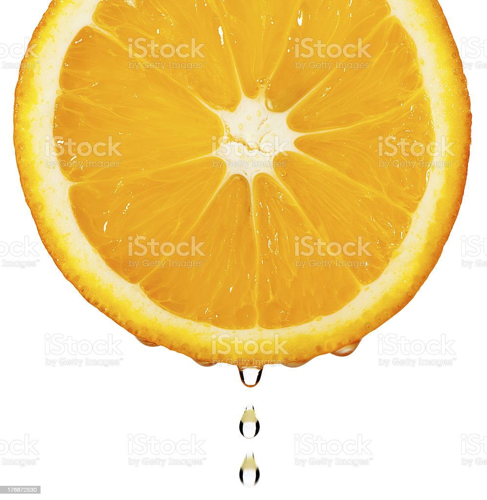 Section orange with drop royalty-free stock photo