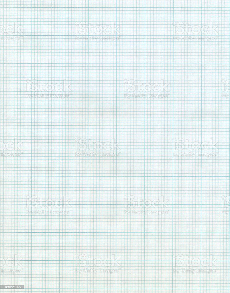 Sectioned sheet of standard graph paper stock photo