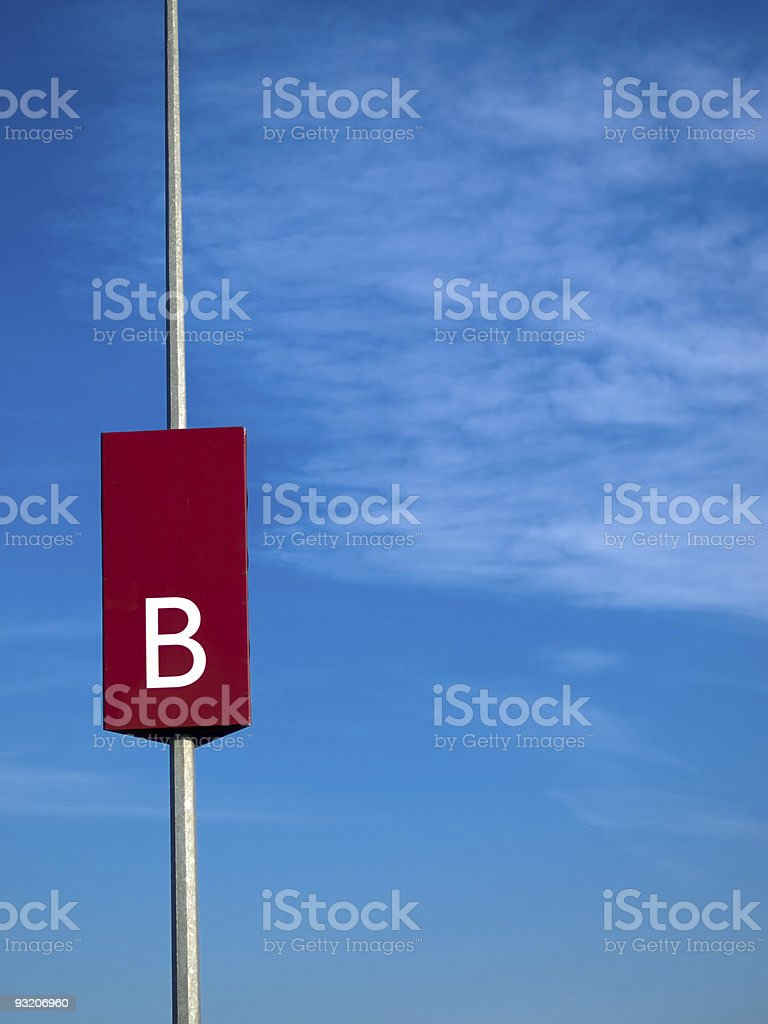 Sector B royalty-free stock photo