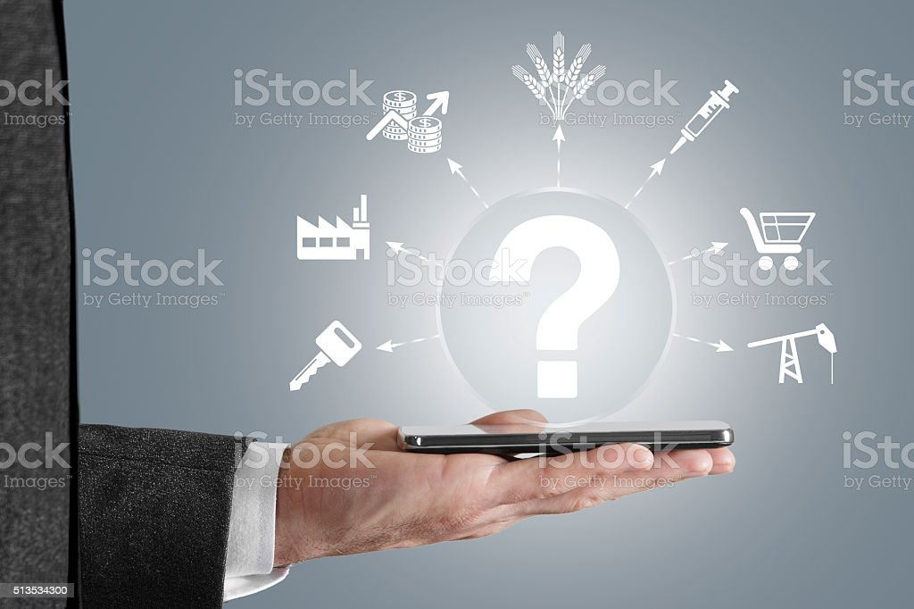 Sectoral concept stock photo