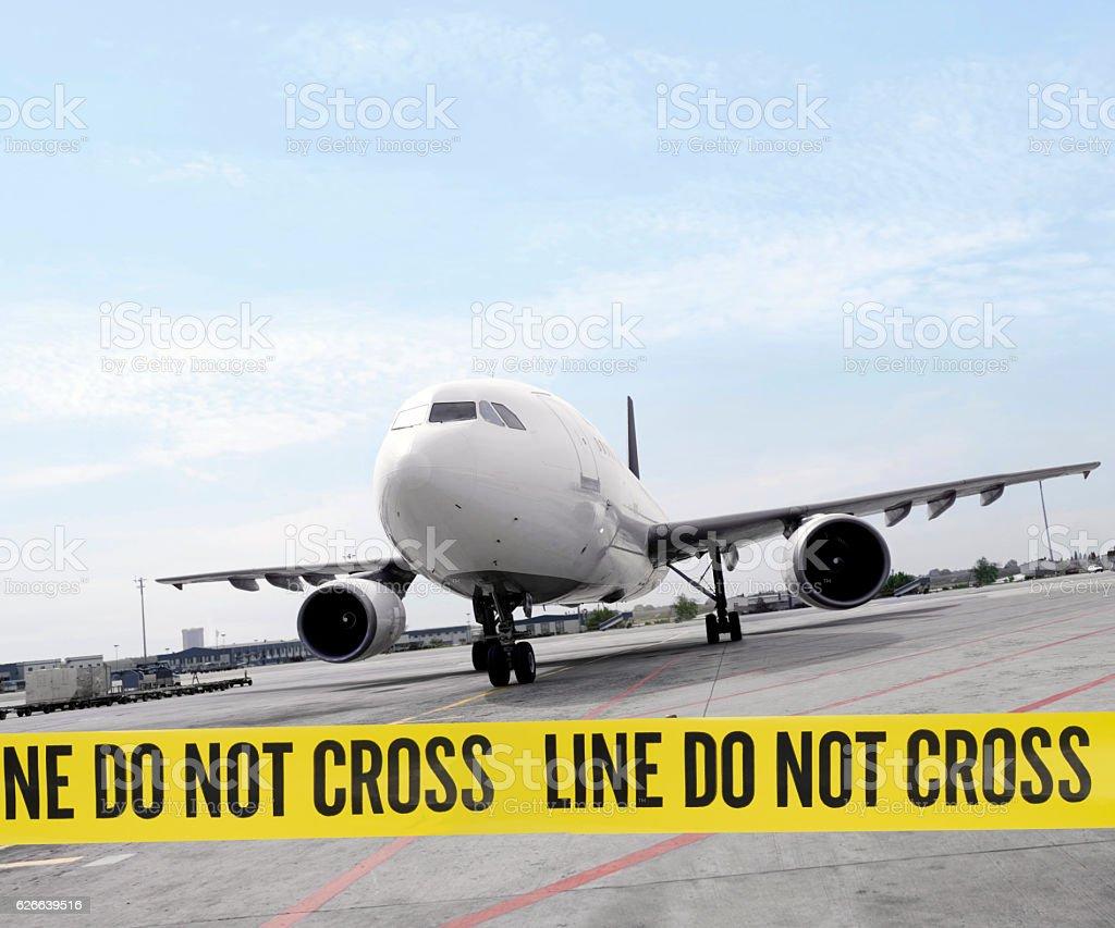 Secuer airport stock photo